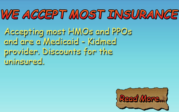 We Accept Most Insurance